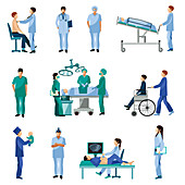 Surgery icons, illustration
