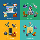 Computer hacking, illustration