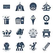 Circus icons, illustration