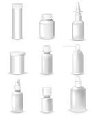 Medicine containers, illustration