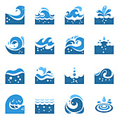 Wave icons, illustration
