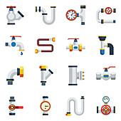 Pipeline icons, illustration