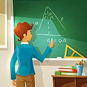 Geometry lesson, Illustration