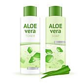 Aloe vera products, illustration