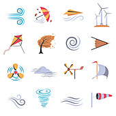 Wind icons, illustration