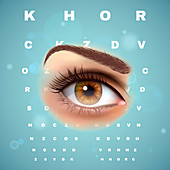 Eye test, illustration