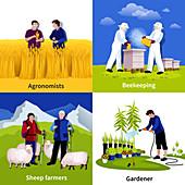 Farming, illustration