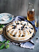 Blueberry Lemon Meringue Cheesecake