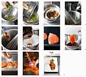 Marinierten karamellisierten Lachs zubereiten