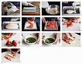Pannacotta mit Erdbeeren zubereiten