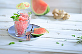 Watermelon ice cream with ginger