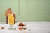 Sea buckthorn milk with saffron