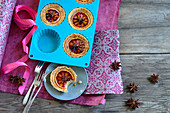 Orange tartlets with star anise