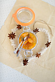 Apricot preserve with star anise