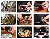 Rote-Bete-Carpaccio mit Garnelen zubereiten