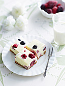 White Chocolate and Berry Cheesecake