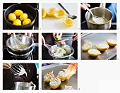Amalfi lemons with lemon cream and meringue being made