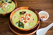 Green Thai curry with prawns