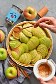 Tart with apple step by step