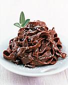 Tagliatelle al cacao (tagliatelle with cocoa, Italy)