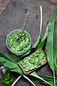 Fresh wild garlic butter