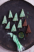 Brownie Christmas trees (Christmas cakes, USA)