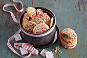 Confetti cookies (Christmas biscuits, New York, USA)