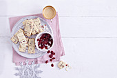 Cranberry shortbread (Christmas biscuits, USA)