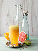 Turmeric lemonade with grapefruit and chilli