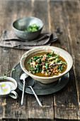Moroccan lamb soup with vegetables
