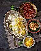 Spiced basmati with almonds and fruit (Persian)