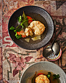 Stuffed fish – broth with fish dumplings