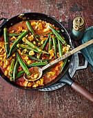 Bamiya – Palestinian okra and chicken stew
