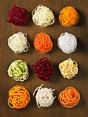 Spiralizer cut vegetables