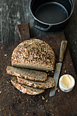 No-knead seed bread