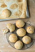 No-knead ciabatta rolls