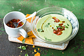 Cold avocado soup with buttermilk