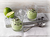 Iced avocado yoghurt cream