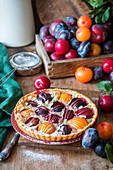 Plum tart with a quark filling