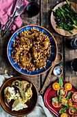 Chicken with chorizo and chickpeas