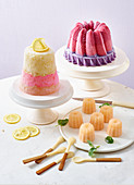 Colourful sorbets in the shape of Bundt cakes