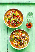 Sweet and sour soup with chicken (Asia)