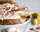 A banoffee cake (banana and toffee)