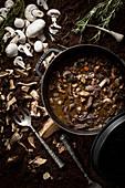 Rindfleisch-Pilz-Eintopf