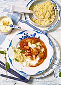 Turkey curry with yoghurt and couscous