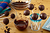 Chocolate cake pops