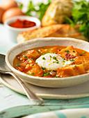 Castilian garlic soup