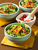 Vietnamese salad with grilled fish