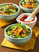 Vietnamesischer Salat mit gegrilltem Fisch