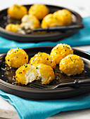 Goat's cheese poppers